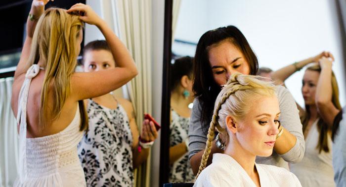 Evgeniia Hair Do Make Up 1 - Romantic Bali Wedding