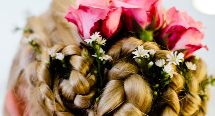 Evgeniia Hair Do Style 1 - Romantic Bali Wedding