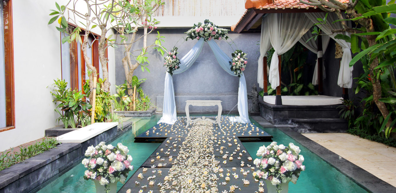 Bali Weddings - 3bedroom Pool Villa Astagina Resort Wedding