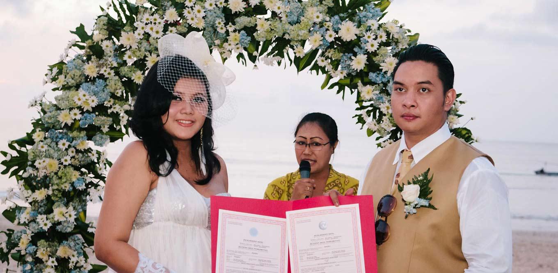 Bali Weddings - Sertificat Wedding Occha Heinz